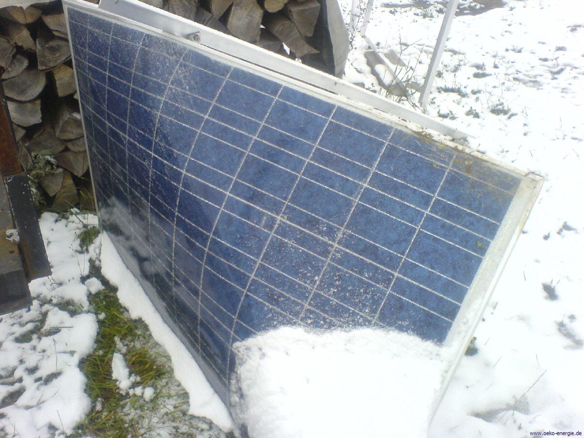 Zersplittertes Solarmodul
